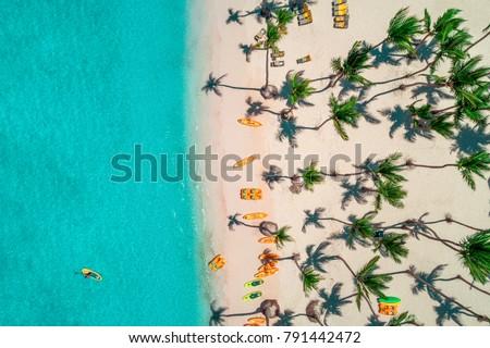 Aerial view of caribbean resort, Bavaro, Dominican Republic #791442472