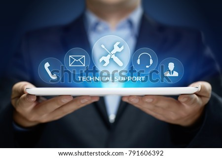 Technical Support Customer Service Business Technology Internet Concept. Royalty-Free Stock Photo #791606392