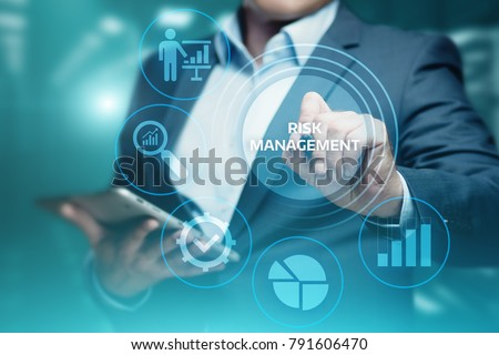 Risk Management Strategy Plan Finance Investment Internet Business Technology Concept. Royalty-Free Stock Photo #791606470
