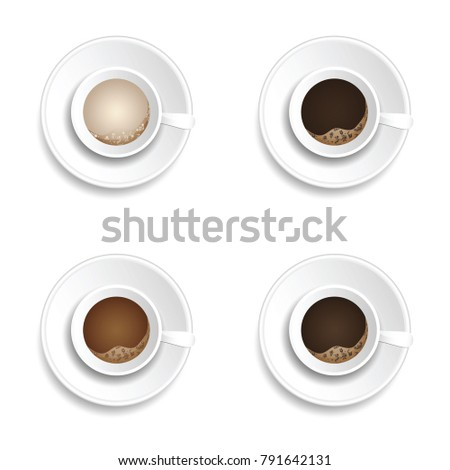 coffee cup drink set illustration in colorful #791642131