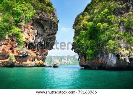 rocks on Railay beach in Krabi Thailand #79168966