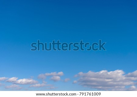 Blue sky and clouds #791761009