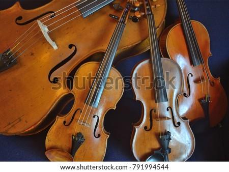 String quartet on a plain background Royalty-Free Stock Photo #791994544