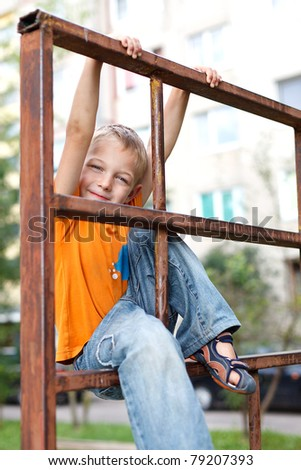 The boy on the playground #79207393