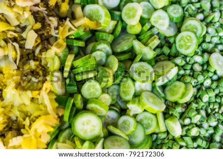 Cucumbers,Vigna unguiculata and Pickle #792172306