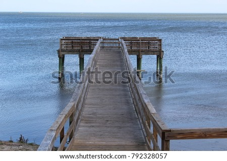 Pier San Antonio Bay Gulf Coast Texas #792328057