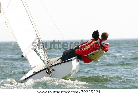 Dinghy Sailing on a Windy Day