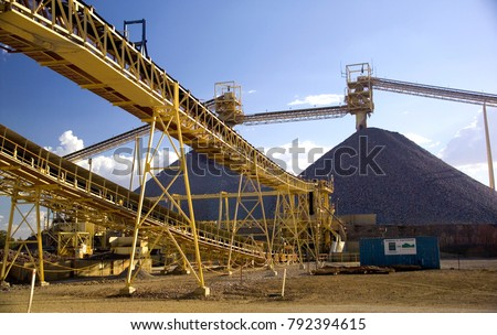 Mining elevators, mining requires huge infrastructure and money to become operational, Australia gold mine. #792394615