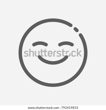Emoji face smiley icon line symbol. Isolated vector illustration of happy sign concept for your web site mobile app logo UI design. Royalty-Free Stock Photo #792419833