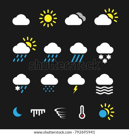 Simple weather icons #792695941