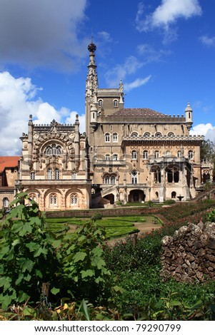 Portugal Luso 'Busaco Palace' - intricate Manueline style architecture #79290799