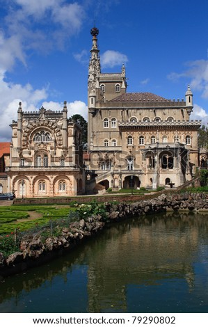 Portugal Busaco Palace - intricate Manueline style architecture #79290802