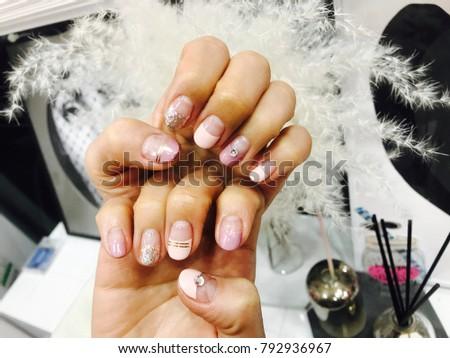 Spring Nail pink purple #792936967