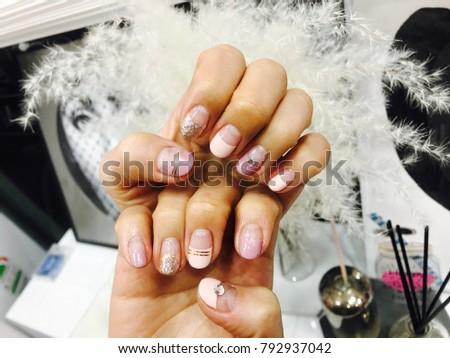 Spring Nail pink purple #792937042