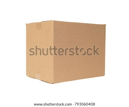 Cardboard box isolated #793060408