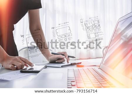 ux designer designing designers web brand phone smartphone layout geek business prototype internet goals sketch plan write idea success solution concept
