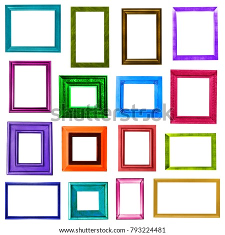 Colored picture frames collection