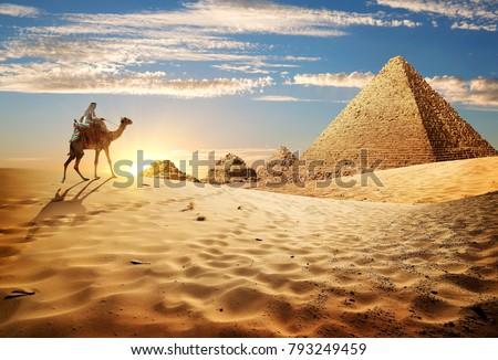 Sunset in desert #793249459