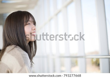 Bright and cute Japanese women #793277668