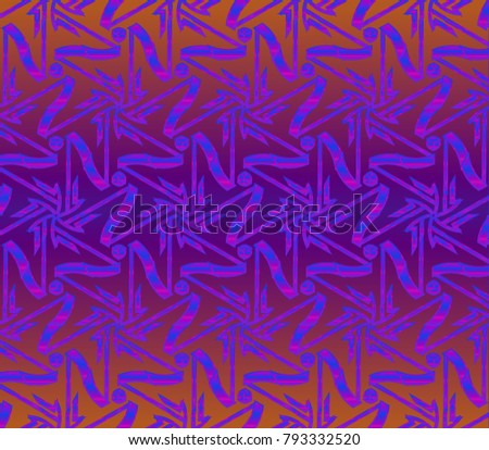 Modern geometric ornament. Seamless  illustration for design. Decorative texture. The background mosaic. #793332520