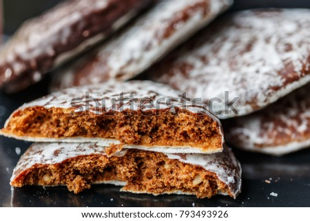 Round Lebkuchen (german gingerbread cookies) #793493926