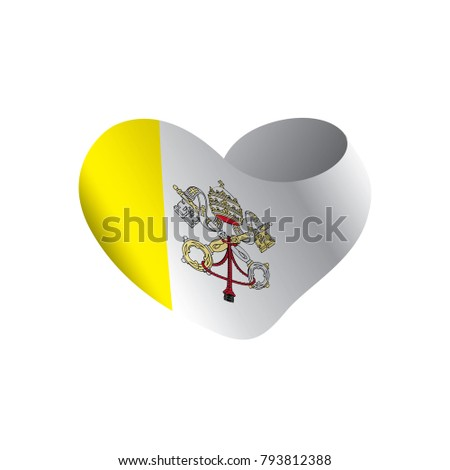 Vatican flag, vector illustration #793812388
