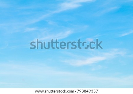 Scenery the beautiful sky with a light cloud  #793849357