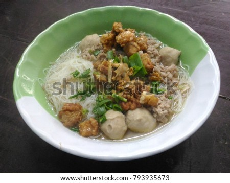 Rice noodle water Meatballs #793935673