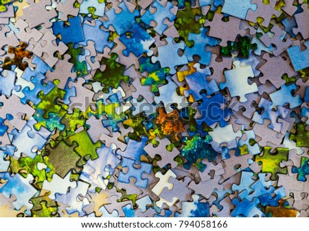 Mixed Pieces of a puzzle background