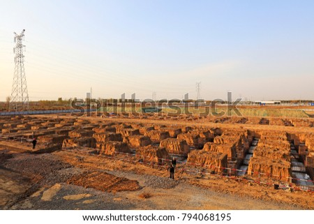Foundation of construction site #794068195