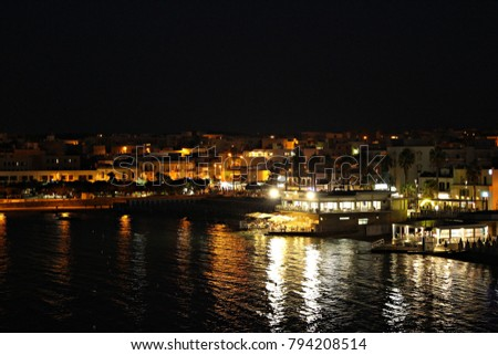 Italy, Salento: Otranto by night. #794208514