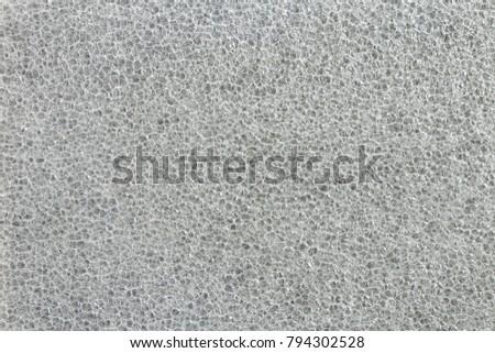 Polyethylene EPE sheet. Polypropylene board foam.  Plastic foam sheet texture. Air bubbles in close up. Bubbles background. XPE/EPE foam insulation. Foam padding sheet. Packaging Material.