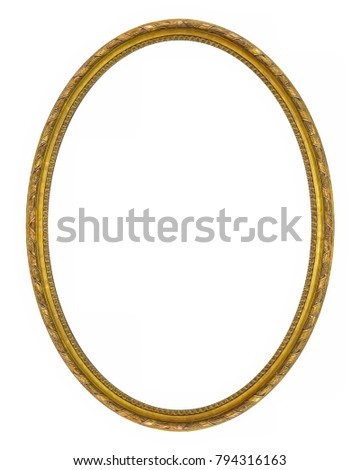 Oval golden frame for paintings, mirrors or photos #794316163