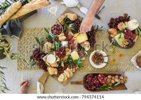 Cheese and Grazing Platter Royalty-Free Stock Photo #794374114