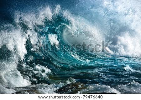 Ocean wave Royalty-Free Stock Photo #79476640