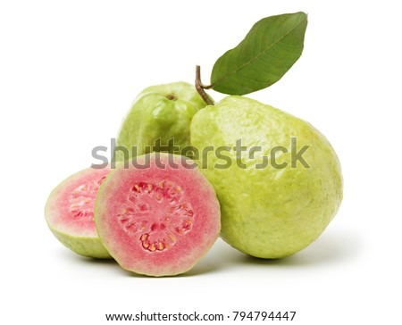 Pink guava isolated on white background #794794447