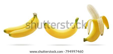 Banana isolated on white background. #794997460