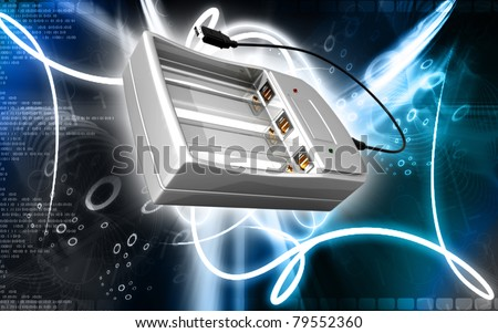 Digital illustration of AAA Charger in colour background #79552360