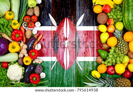 Fresh fruits and vegetables from Kenya #795614938