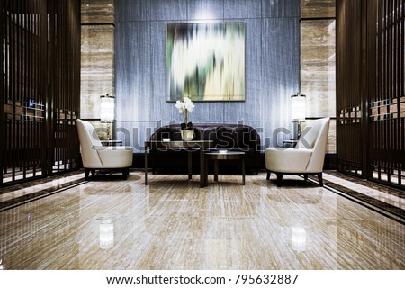 Luxury lobby interior. #795632887