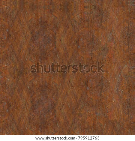 Colorful Seamless Grunge Pattern. Abstract Messy Painted Antique Texture. Modern Futuristic Wall Backdrop For Background, Wallpaper, Banner With Copy Space. Close Up Square Image #795912763