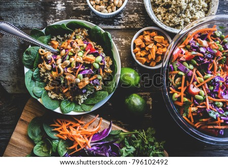 Veggie Bowl over Coconut Quinoa #796102492