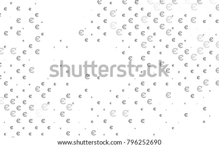 Light Silver, Gray vector background with signs of Euro. Modern abstract illustration with symbols of digital money. Template can be used as a background for ads of markets, loans. #796252690