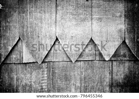 Old plank wooden wall background. The texture of old wood. Weathered piece of wood. Image includes a effect the black and white tones. #796455346
