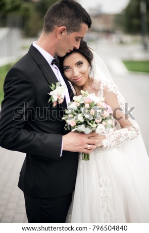 Widding couple outside #796504840