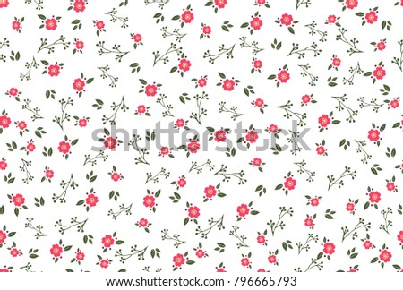 Abstract seamless simple floral pattern. Flower pattern. Spring pattern. Pattern for textiles or for cover. Wallpaper. #796665793