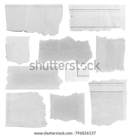 Pieces of torn paper on plain background Royalty-Free Stock Photo #796826137