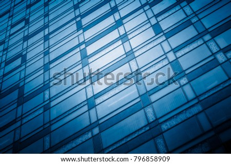 office building window close up