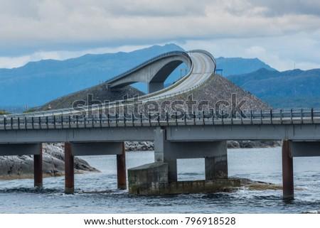 Scenic Atlantic ocean road, Norway Royalty-Free Stock Photo #796918528
