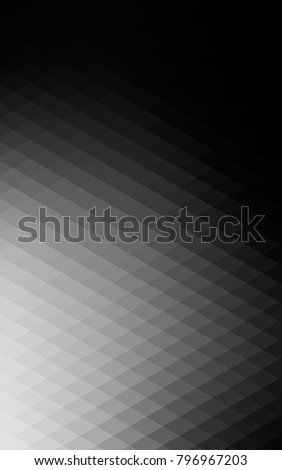 Dark Silver, Gray vertical of small triangles on white background. Illustration of abstract texture of triangles. Pattern design for banner, poster, cover. #796967203